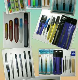 Manicure tools (nail files, graters, etc.)