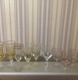 Бокалы,стаканы,стопки,вазочки,креманки времен СССР