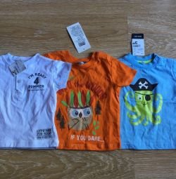 T-shirt for a boy 3 pieces 68 size new
