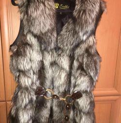 A vest of fox fur.