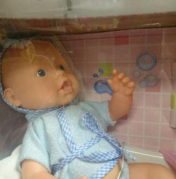 Лялька пупс з ванною