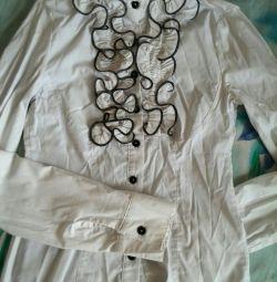 Блуза рубашка школьная