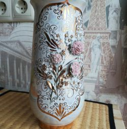 Porcelain vase handmade.