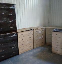 Комоды новые 4 ящика