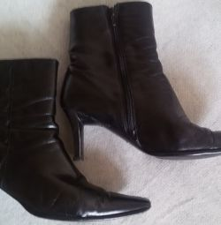 Ankle boots, genuine leather, r-38