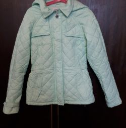 Осіння куртка SELA на 10 років бірюзового кольору