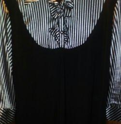 Bluză de mătase strictă, sub cele două.