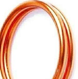 Wire d 2mm color. copper rul.10m