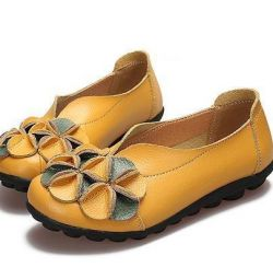 New shoes ballet leather Spain 37,5-38r