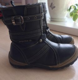 Children's winter boots for a boy kapika