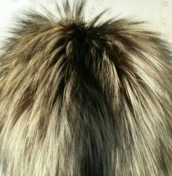 Καπέλο γούνας (ασημένια αλεπού + βιζόν)