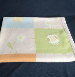 Pătură pentru copii. Pătură de flanelă