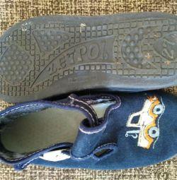 Papuci textile