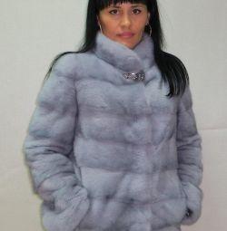 Palton de nurcă albastră