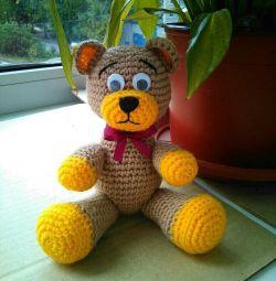Knitted teddy bear (handmade)