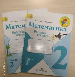 Two math notebooks