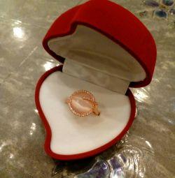 Inel de placare cu aur roz
