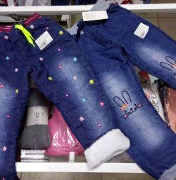Новые теплые джинсы
