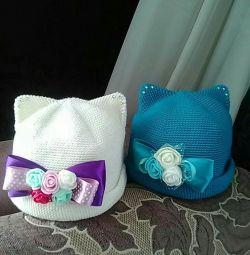 Selling new hats, handmade.