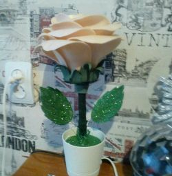 Lamp night light rose