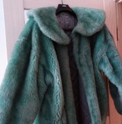 Fur coat size 48