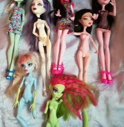 Monster High dolls Original. 7 + 2 dolls COLLECT MONSTER