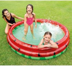 Inflatable pool Watermelon 168x38 cm, from 2 years old, 58448