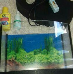акваріум 20л в повній комплектації