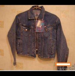 Женская джинсовая курточка новая р 46-48 с биркой