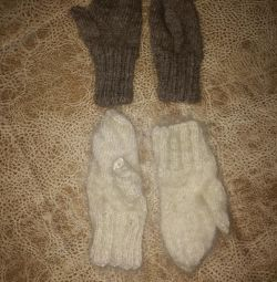 New knitted mittens