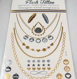 Наклейки -татуировки цвет. золото, серебро и т. д