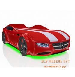 Bed Driver μηχάνημα με συρτάρι και επώνυμες λωρίδες (κόκκινη Mercedes)