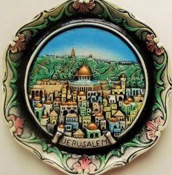 placă pe perete / Ierusalim, nouă în cutie