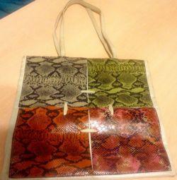 Deri süslemeli yazlık çanta