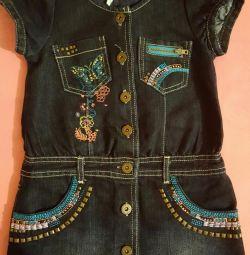 Jeans elbise Tasarımcılar р. 110-116