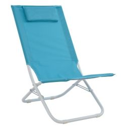 BEACH CHAIR WITH SILEL FABRIC AND LIGHT FLAT H
