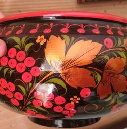 Новая чашка-братина хохлома