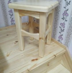Stools are new. Handmade. Bargain.