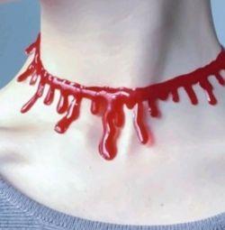 Το Choker είναι νέο !!! Κόκκινο, απομίμηση αίματος
