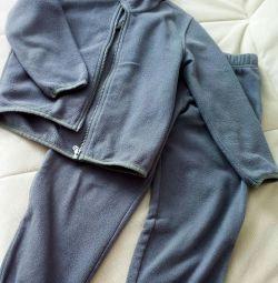 Costum Lassie by Reima, fleece, înălțime 104-110 + 6.