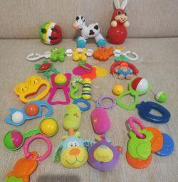 Мягкая подвеска, погремушки, игрушки, неваляшка