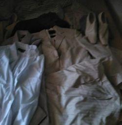 Suit, shirt p 46, shoes p 39
