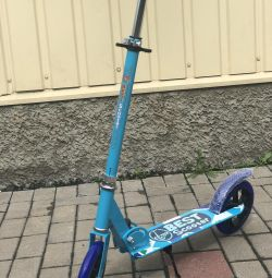 Metal scooter.