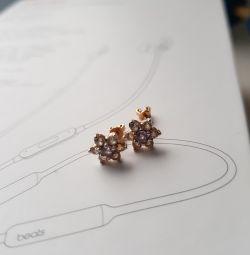 Gold Carnation Earrings