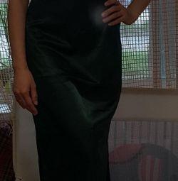 Evening green dress