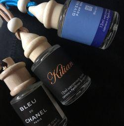 Perfume in car fragrances