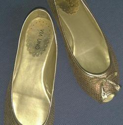Παπούτσια μπαλέτου (καλοκαίρι) 38 τρίβουν.