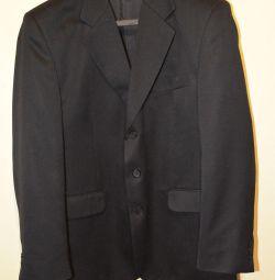 Пиджак мужской классический черный, 50 размер