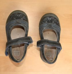 Pantofi de piele pentru copii pentru o fată, dimensiunea 20,5