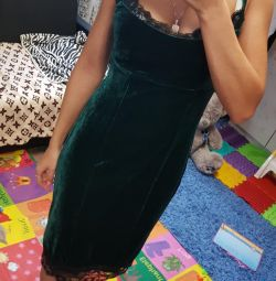 Velvet dress 42size